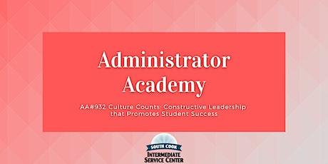 AA#932 Culture Counts: Constructive Leadership that Promotes Stu... (06925) tickets