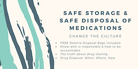 DFD's Education & Training Series: Safe Storage Safe Disposal of Medication tickets