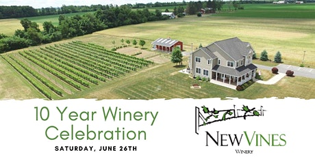 New Vines Winery Celebrates 10 Years! tickets
