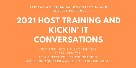 Host Training and Kickin' It Conversations tickets