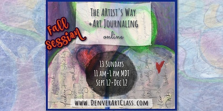 The Artist's Way + Art Journaling: 13 Week Online Course  Fall Session tickets