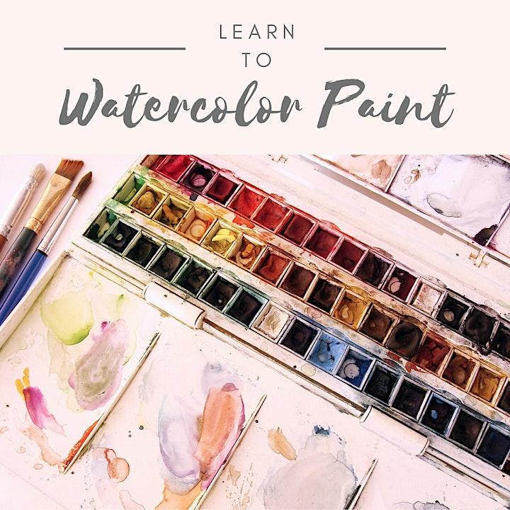 Weekly Wednesday Zoom Watercolor Class image