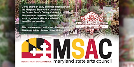 Maryland State Arts Council Luncheon at QACAC tickets