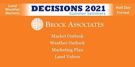 Brock Associates - Decisions Summer Seminars - Ames IA tickets