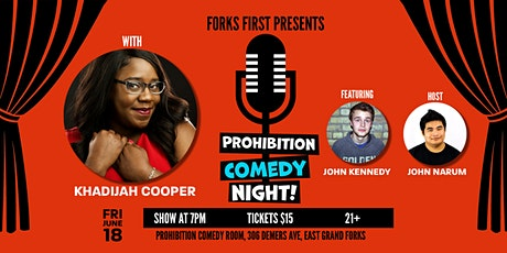Prohibition Comedy Night with Khadijah Cooper tickets