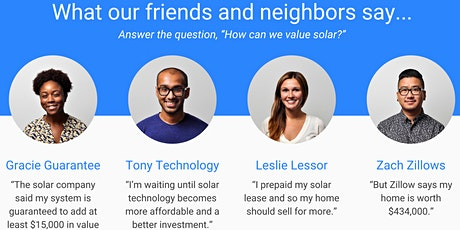 What's a Solar Home Worth ? A look at the data & research with Melisa Camp tickets