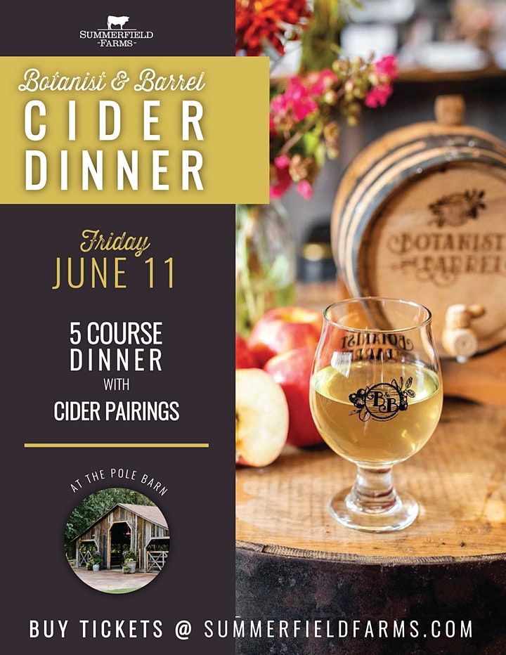 Botanist & Barrel Cider Dinner image