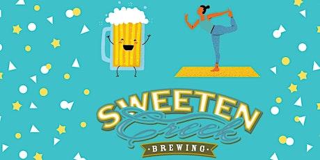 Beer Yoga at Sweeten Creek tickets