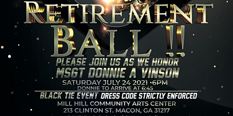 DONNIE A VINSON RETIREMENT BALL tickets