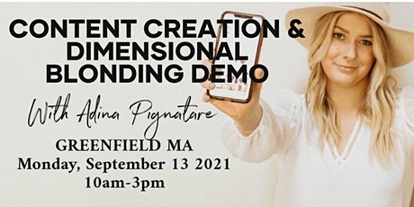 Dimensional Blonding Demo & CONTENT CREATION tickets