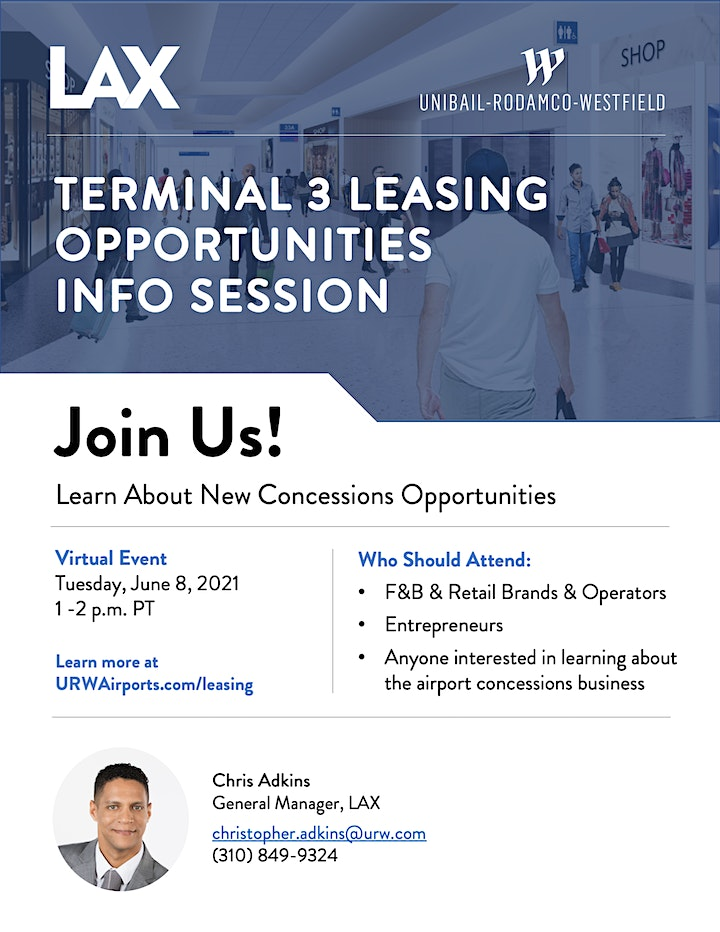 LAX Terminal 3 Leasing Opportunities Info Session image