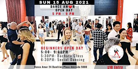 Bachata Class & Social Dancing - Dance Amor Open Day Sun 15 Aug 5 PM tickets