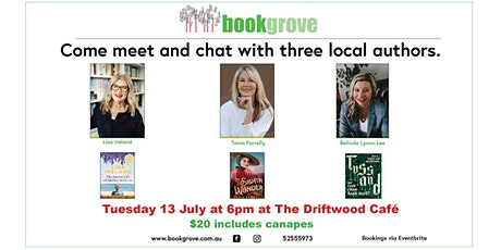Come meet and chat with three local authors tickets