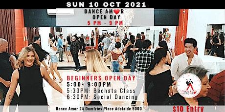 Bachata Class & Social Dancing - Dance Amor Open Day Sun 10 Oct 5 PM tickets