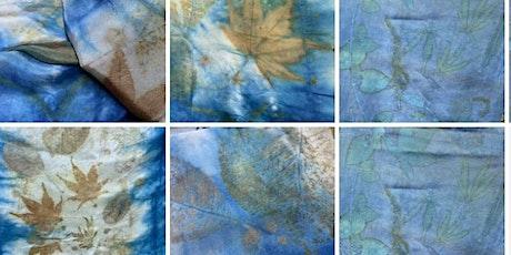 Botanical Printing on textile with Indigo dye online workshop tickets