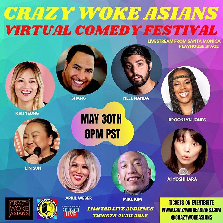 Crazy Woke Asians Comedy Festival LIVE AUDIENCE AT SANTA MONICA PLAYHOUSE! image