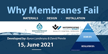 Waterproofing - Why Membranes Fail tickets