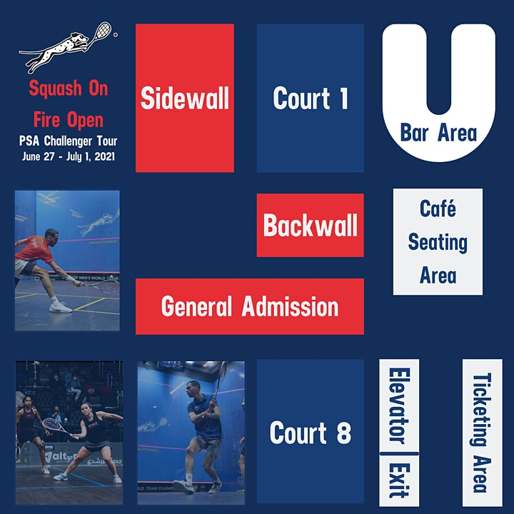Squash On Fire Open - Wednesday, June 30 Tickets image