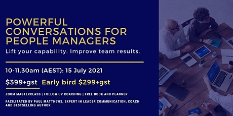 Powerful Conversations for People Managers: unite and ignite your team entradas