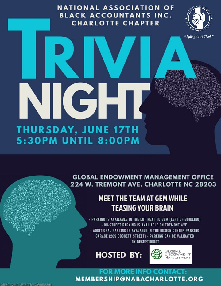 NABA Charlotte: Trivia Night with Global Endowment Management (GEM) image