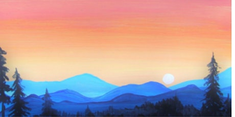 60min Paint A Mountain Landscape Scenery @11AM  (Ages 6+) tickets