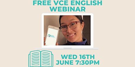 FREE VCE English Webinar - Ft. Tenzin from Study Buddies tickets