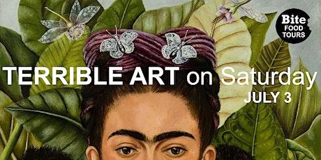 FRIDA KAHLO –  Saturday TERRIBLE ART paint & sip tickets