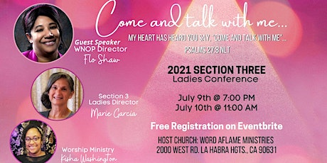 2021 Section 3 Ladies Conference tickets