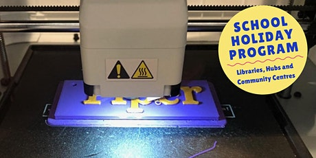 July School Holidays: Make your own 3D printed bag tag tickets