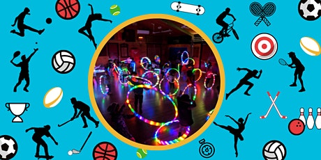 Rainbow Glowing LED Hula Hoop Rave! (8 to 12 years) tickets