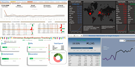 Dashboarding and Management Reporting in MS Excel (Online and Live) boletos