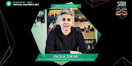 L'artist management con Paola Zukar biglietti