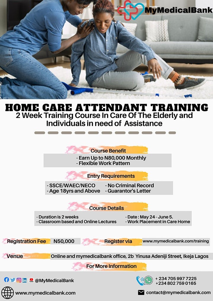 HOME CARE ATTENDANT  TRAINING image