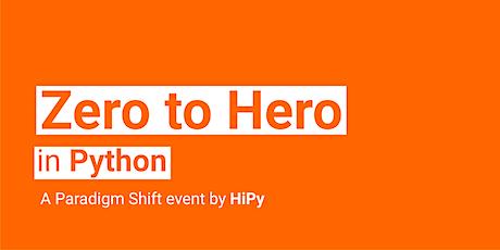 Zero to Hero in Python tickets