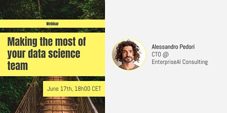 Making the most of your data science team: call for speakers! tickets