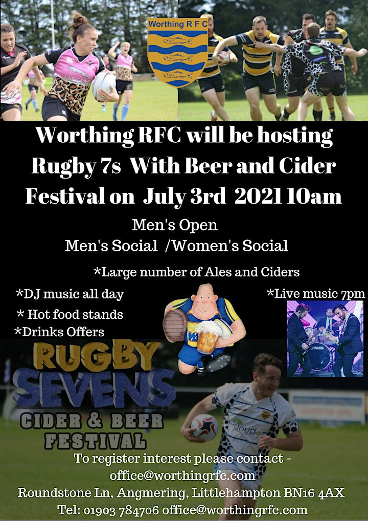 Advanced Drinks Promotion Worthing Rugby Club Beer and Cider Festival image