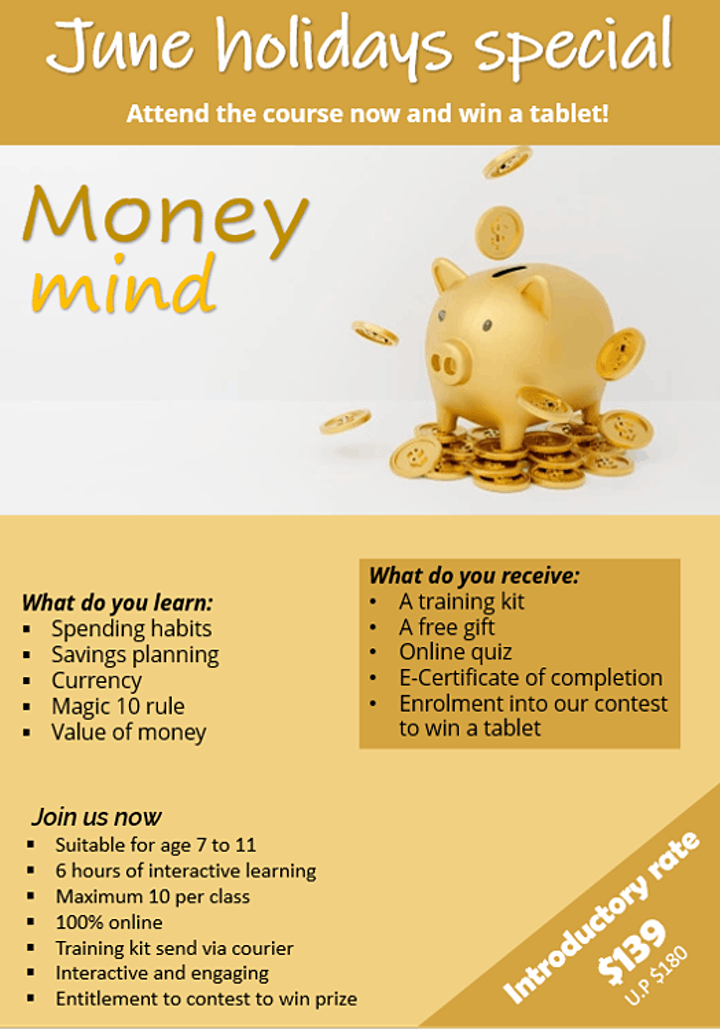 Money Mind - Learning financial as easy as 1-2-3 for young children image