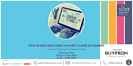 How to plan and create a month's worth on content tickets
