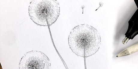 Wellbeing Art Sessions - Problem Solving Skills, Graphite Pencil Dandelions tickets