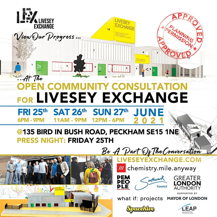 Old Kent Road's Livesey Exchange   - Open Community Consultation Event image