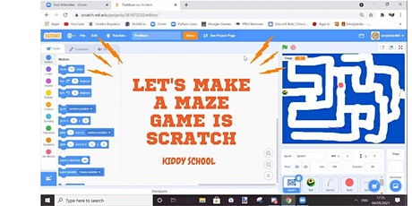 Prerecorded  Class: Let's make a Maze game in Scratch tickets