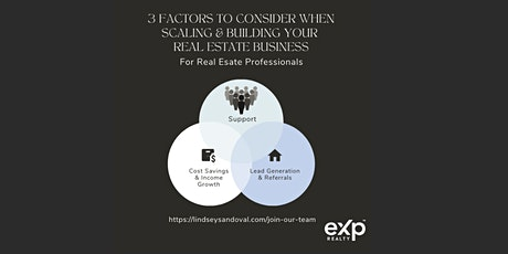 Scaling and Building  your Real Estate Business by EXP Explained tickets