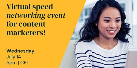 Join The Content Mix's virtual speed networking event for marketers! tickets