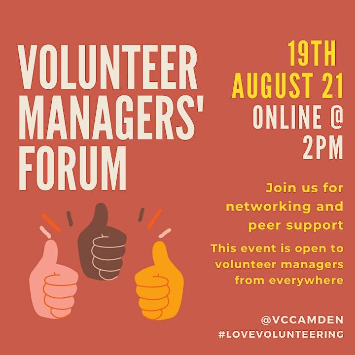 August 2021 Online Volunteer Managers' Forum image