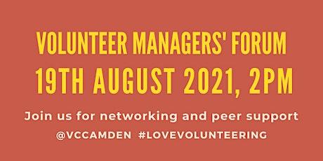 August 2021 Online Volunteer Managers' Forum tickets