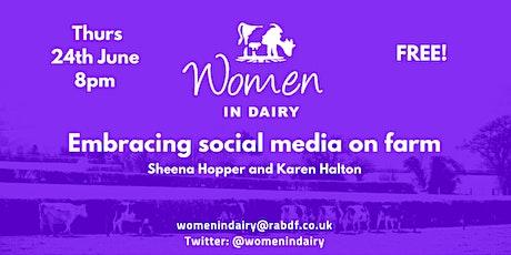 Women in Dairy webinar - Embracing Social Media tickets