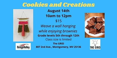 Cookies & Creations - Weave a wall hanging tickets