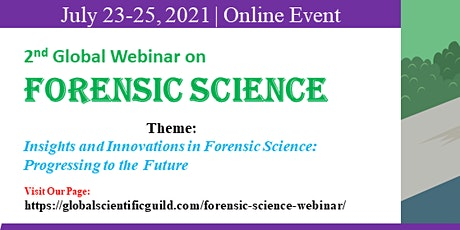 2nd Global webinar on Forensic Science Conference tickets