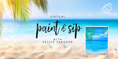 Virtual Paint & Sip - Beach Style tickets