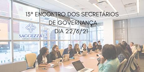 13° ENCONTRO DOS SECRETÁRIOS DE GOVERNANÇA ingressos